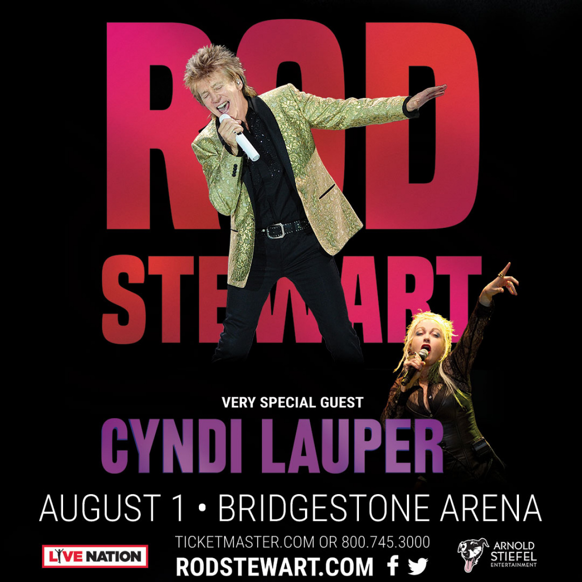 Rod Stewart with Cyndi Lauper